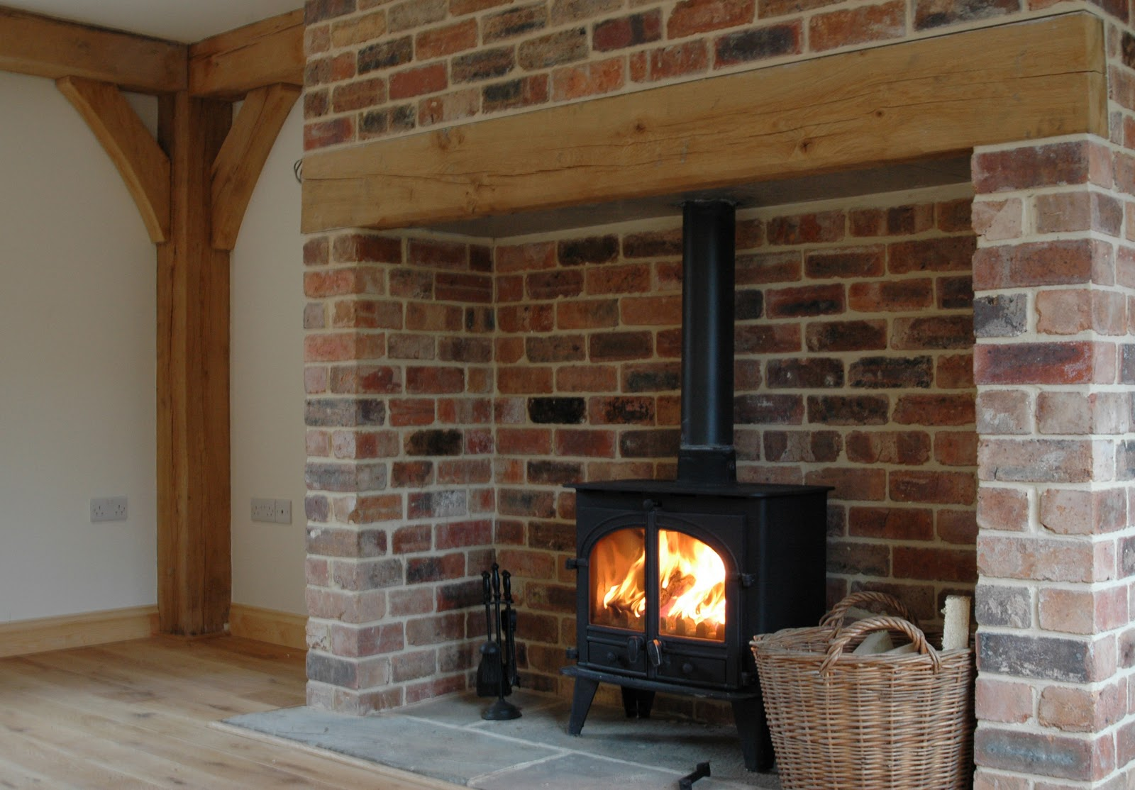 From little acorns january 2011 for Open fireplace ideas