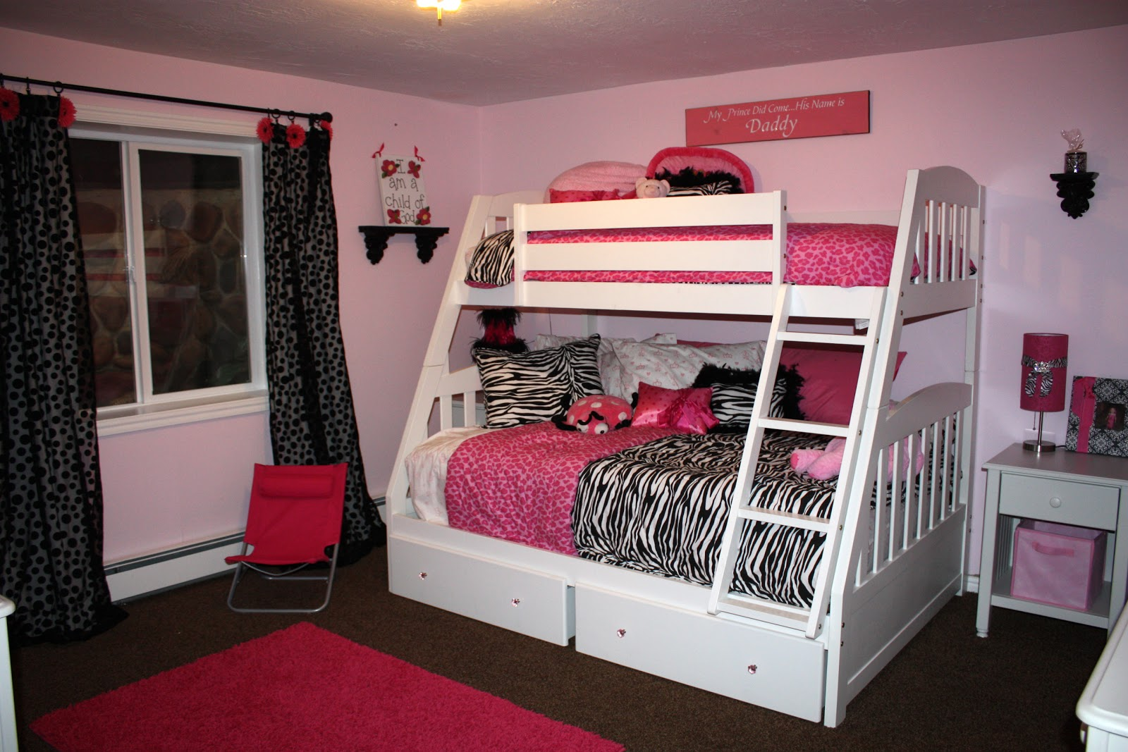 Wanna be balanced mom cute girls bedrooms for Girls bedroom decorating ideas with bunk beds