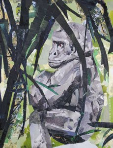 Gorilla by collage artist Megan Coyle