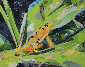 Tree Frog by collage artist Megan Coyle