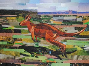 Mr. Kangaroo by collage artist Megan Coyle