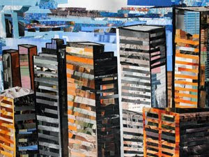 The City by Day by collage artist Megan Coyle