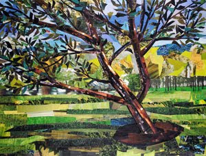 Tree in the Park by collage artist Megan Coyle