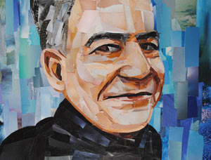 Karim's Father by collage artist Megan Coyle