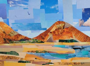 Orange Plains by collage artist Megan Coyle