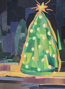 Christmas Tree by collage artist Megan Coyle