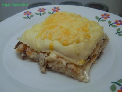Espe saavedra en la cocina lasa a de boletus y gambas - Bechamel con nata para cocinar ...