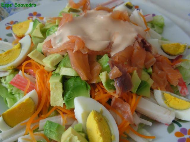 Espe saavedra en la cocina ensalada de salmon y aguacate - Ensalada con salmon y aguacate ...