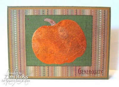 Tacky Pumkin Striped Card