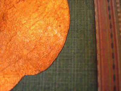 Tacky Pumkin Striped Card Closeup