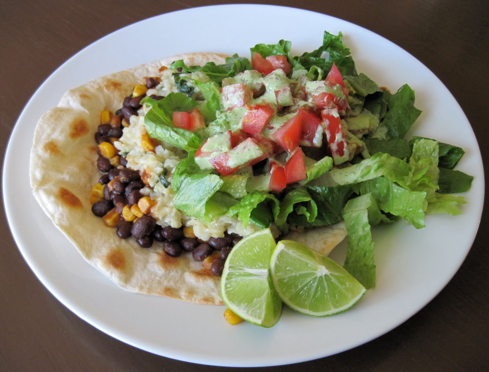 ... : Cafe Rio Inspired Tostada With Creamy Tomatillo-Cilantro Dressing