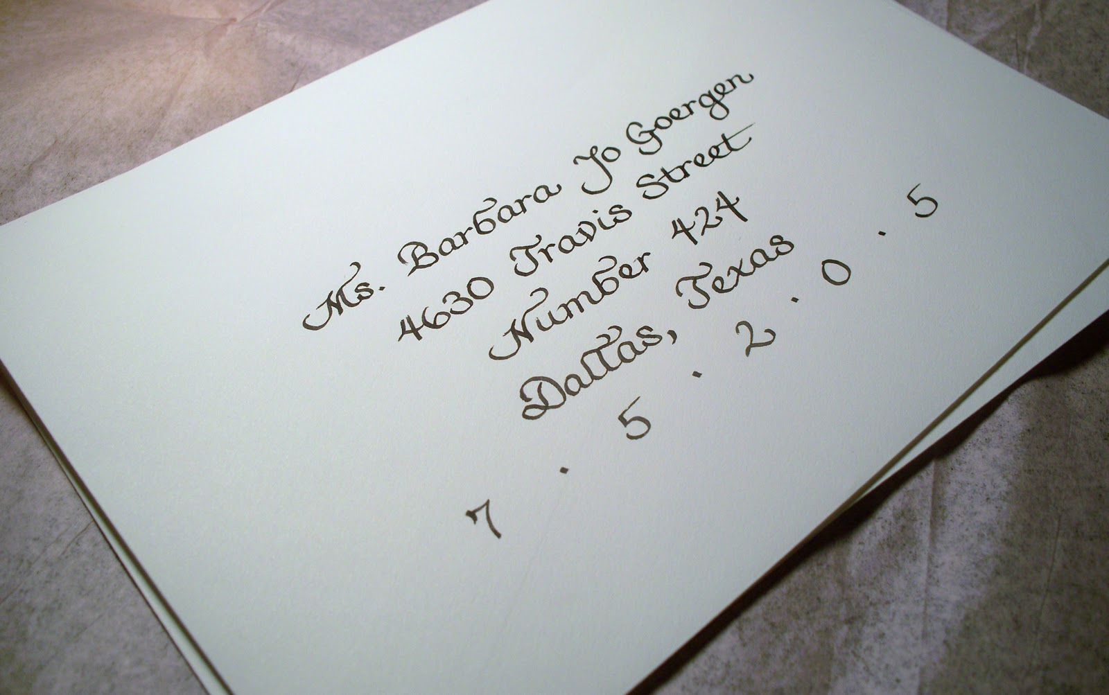 From The Ash Tree Meadow Calligraphy For Wedding