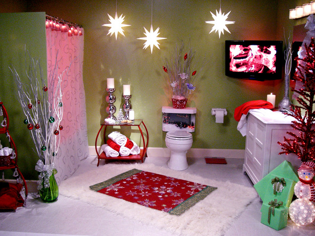 the perimeter christmas decorations for the bathroom and