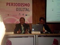 Jesús Rivero y Domingo Laborda durante su ponencia en SICARM