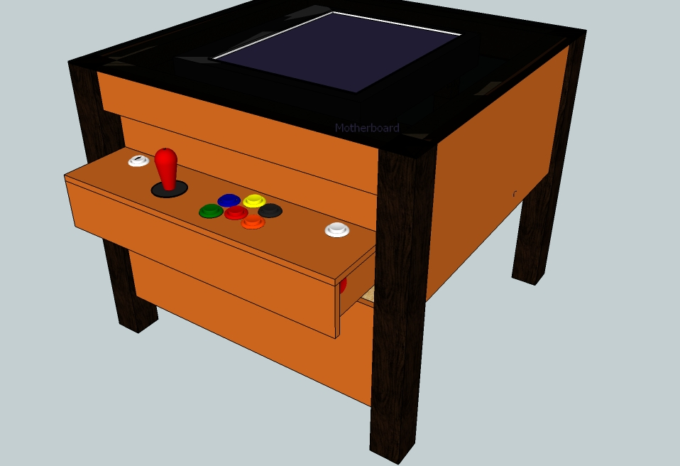 Diy Arcade Coffee Table Wood Work Is Fun