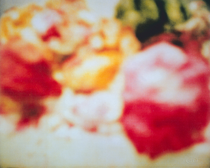 Cy Twombly, Peonies (Polaroid)