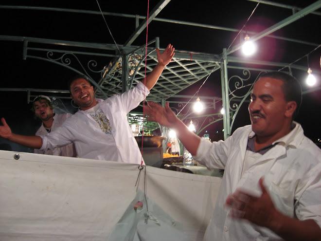 Noche en la plaza Jamaa el Fna