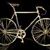 24 ayar altın kaplama bisiklet