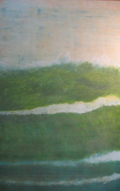 """Sent Adrift"" encaustic on panel 2008"