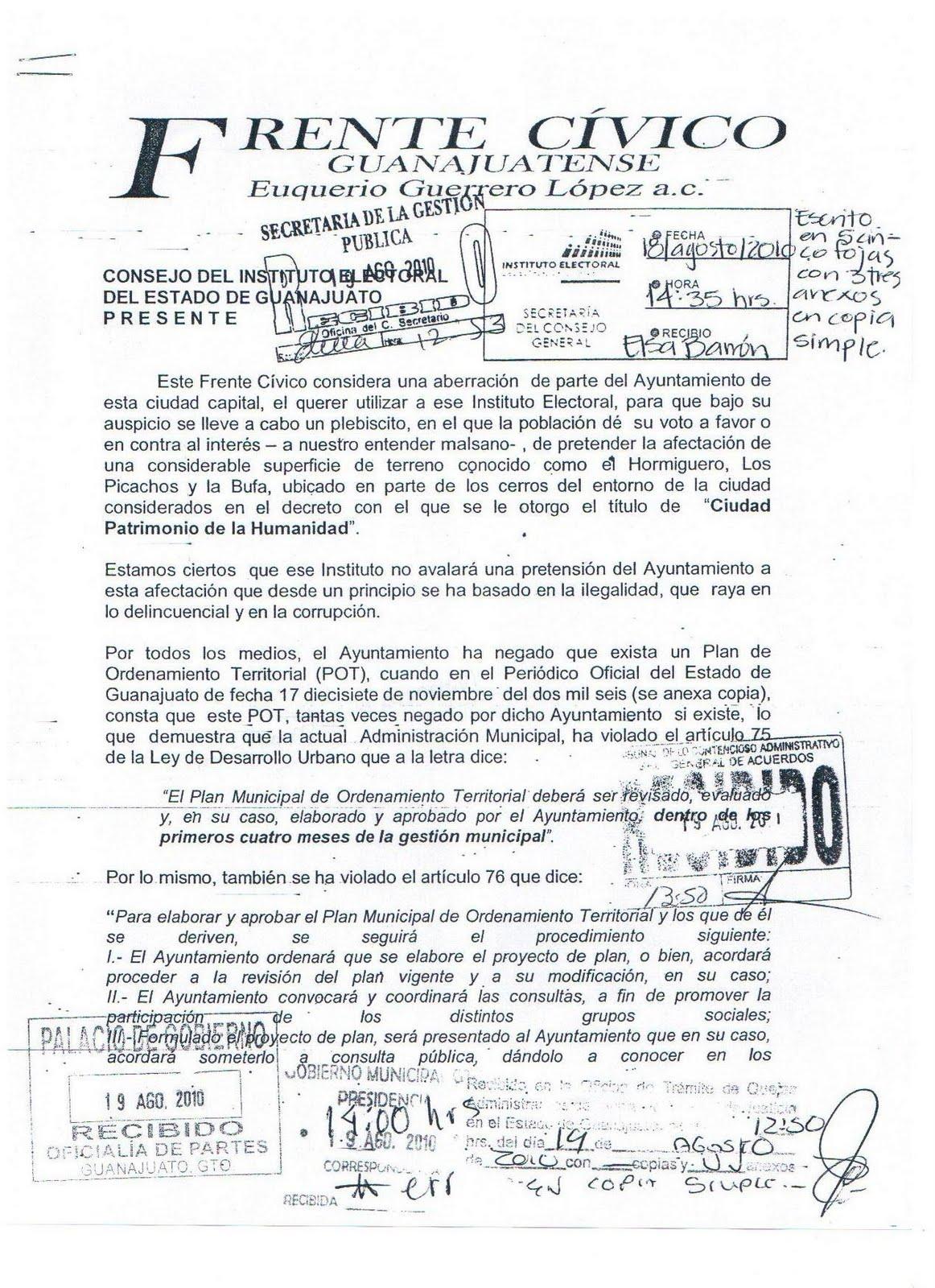 Plebiscito Guanajuato Bufa