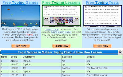 good typing games