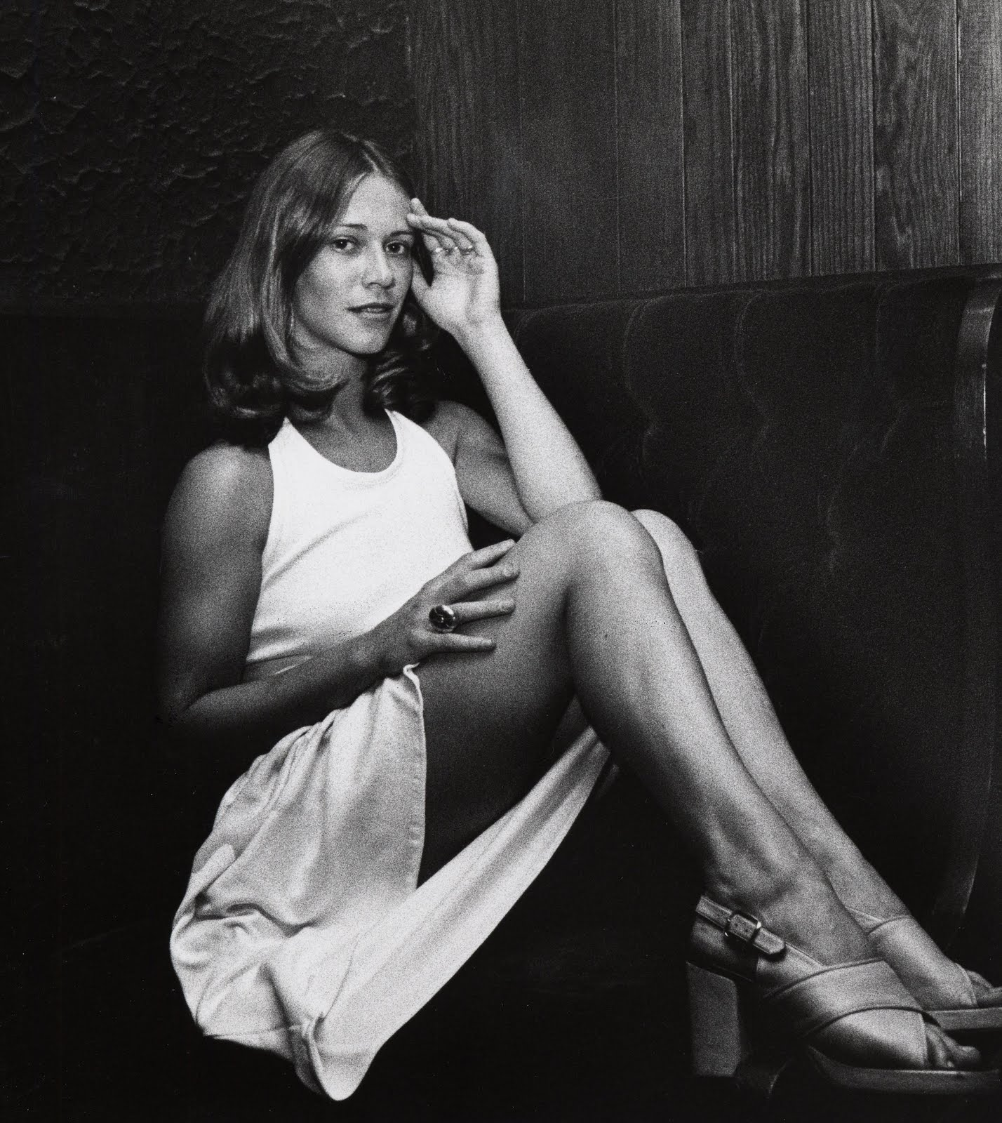 image Marilyn chambers as a cheerleader takes on 2 guys