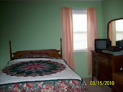 Newly painted guest room