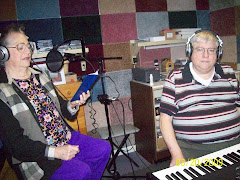 Lillian with Terry Leonard in Recording Studio