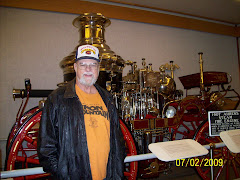 Gil and the steam engine once used in Valdez