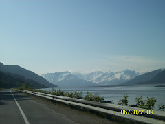 Driving sounth on Seward Hwy along the ocean inlet