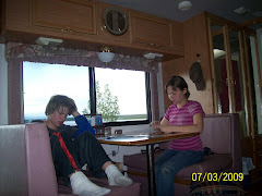 Mitch and Suzanne playing cards in the RV