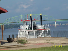 paddle boat on the Mississippi River