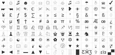 Simbolos y adornos para tu Facebook