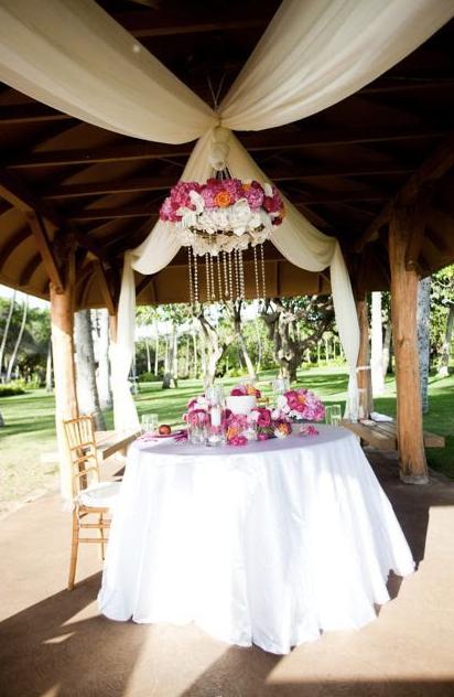 Dainty Details - Hawaiian Wedding - Floral Chandelier | Adore
