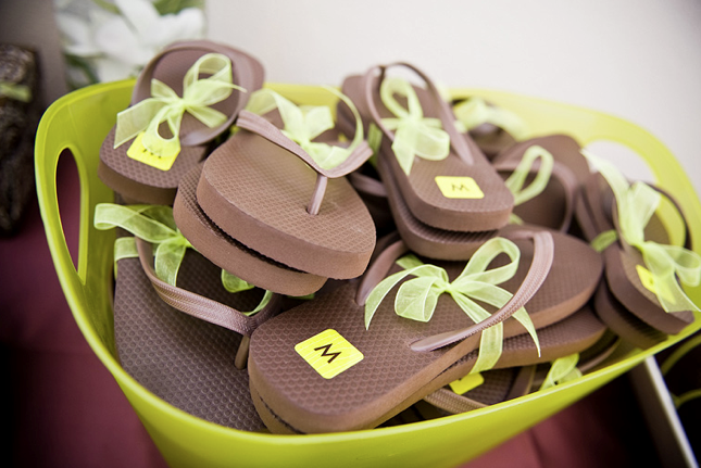 other fun flip flops i have seen also write just married in the sand but i personally think the initials are super darn cute