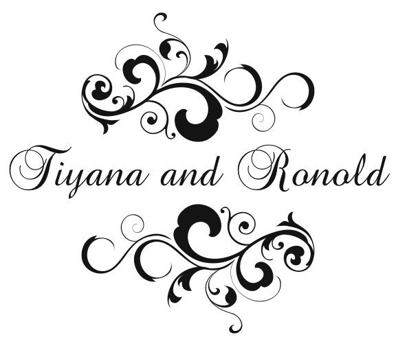 Custom Wedding Monogram for Tiyana and Ronold