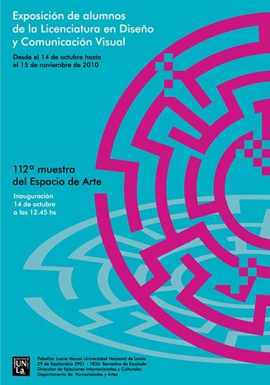 diseño y comunicación visual: diseño de afiche para exposición de