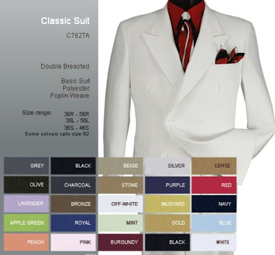 I did a little investigation at online shops that sell men's suits.