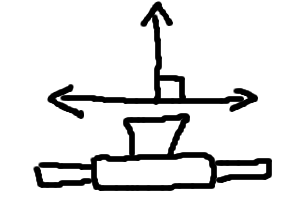 Schematic of single camera on sliding mount