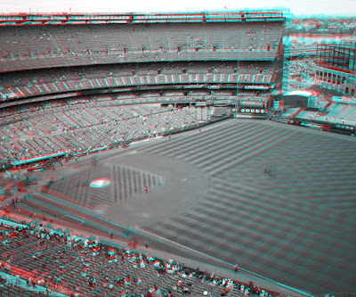 Grayscale anaglyph of Shea infield