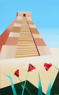 The Pyramid Painting - Daily Painting Blog - Original Oil and Acrylic Artwork by Artist Mark Webster