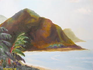 Kauai Coast Painting - Daily Painting Blog - Original Oil and Acrylic Artwork by Artist Mark Webster