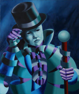 daily painters - The Mask of the Magician Painting - Daily Painter - Original Oil and Acrylic Art - Painting a Day by California Artist Mark A. Webster