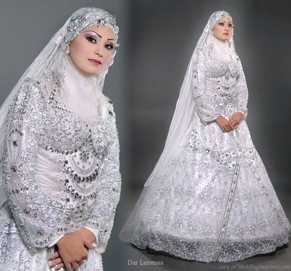 Wedding lights hijab scarves and veil styles for Muslim wedding dress photo