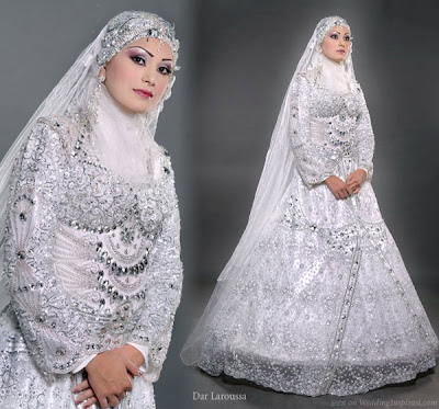 robes de mariage spéciales hijab 2012