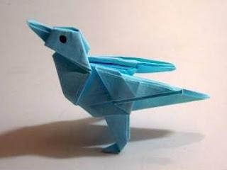 твиттер-птичка оригами