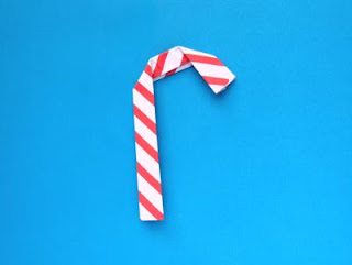 Origami Christmas Candy Cane