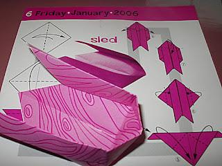 Origami Christmas Sled