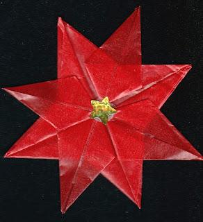 Origami Poinsettia - Origami Christmas