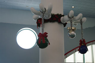 Disney Cruise terminal Christmas decorations